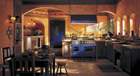Viking Range offers appliances in 24 different finishes, including Cobalt Blue.