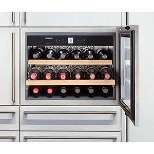 The Liebherr HWS1800 stores 18 bottles in the lap of wine luxury.