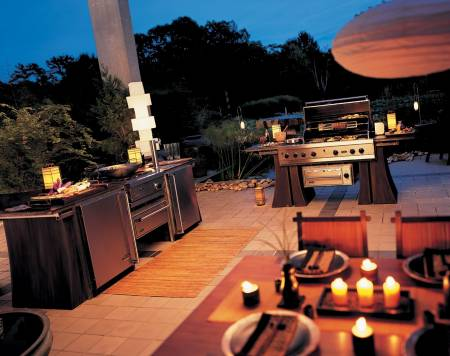 Outdoor kitchen ideas part 1 warner stellian appliance for Viking outdoor kitchen designs