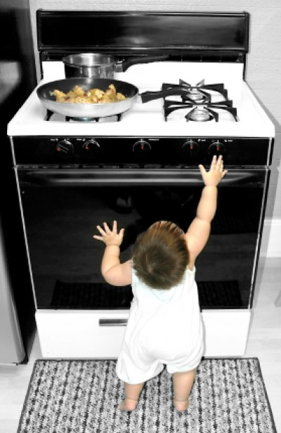 Yup, you're stuck with it for the next 16 or 17 years. So you better be sure it's the right fit for you and your family (see how I just made another baby-with-appliances pic happen?).
