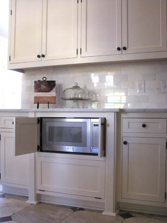 Built-in microwave cabinet
