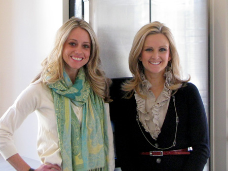 Nicole Curtis, left, poses in her beautifully remodeled kitchen with Twin Cities Live reporter Emily Engberg.