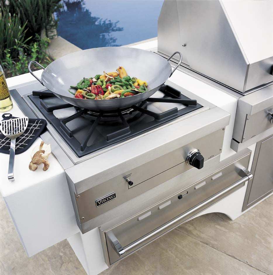 Outdoor Kitchen Ideas: Viking Gas Wok/cooker