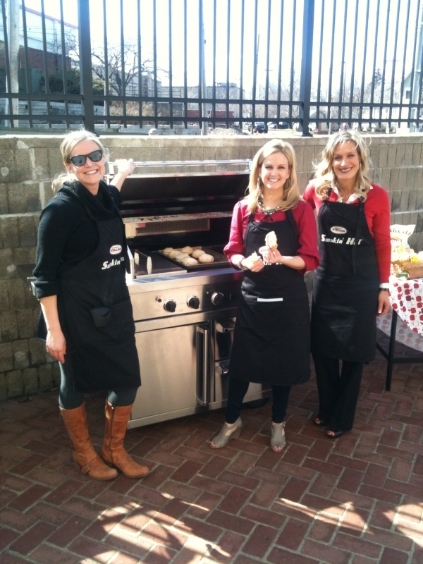 "2011 was another great year for grilling at Warners' Stellian, including my favorite moment: grilling doughnuts with my aunt Carla Warner on the Viking gas grill for ""Twin Cities Live"" reporter Emily Engberg."