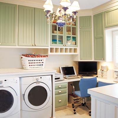 Laundry room ideas warner stellian appliance for Laundry room office