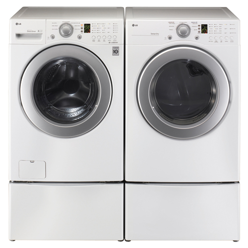 $999 - 3.7 cu ft washer with 7 cycles (WM2240CW) & 7.3 cu. ft. electric dryer with 7 cycles (DLE2240W). While quantities last!