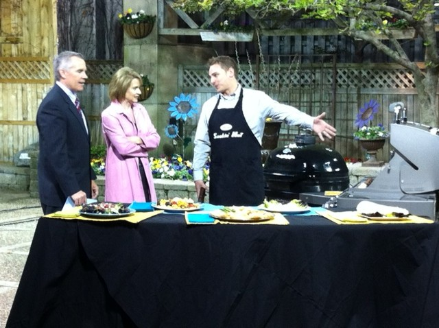 Joe Warner talks grilling trends with Tim McNiff and Kim Insley of KARE11 Sunrise.
