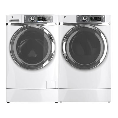 white laundry pedestal