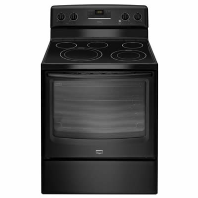 black-electric-range