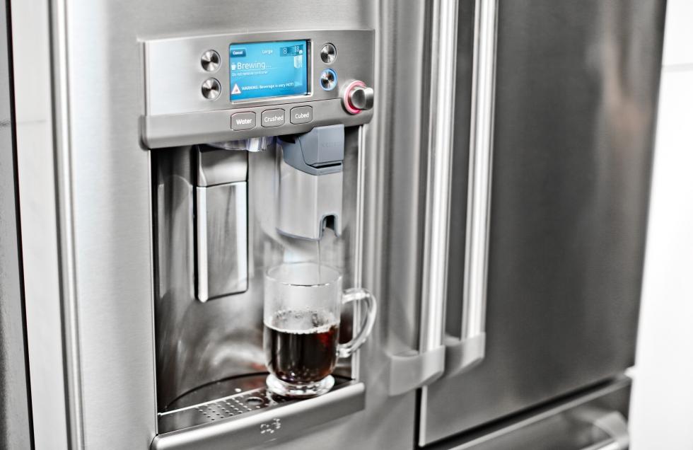 GE Cafe Keurig refrigerator