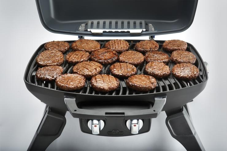 burgers on Napoleon grill